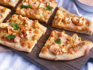 Buffalo Cauliflower Pizza