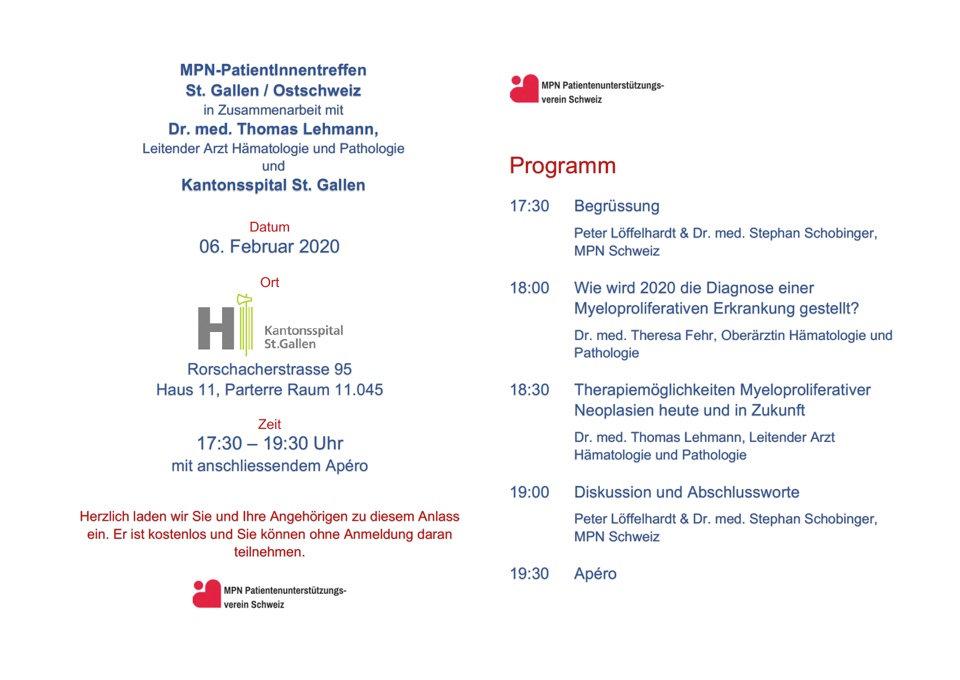 20200206 Patiententreffen St. Gallen, 2