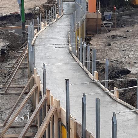 realizzazione di piattaforme con struttura intelaiata in cemento armato