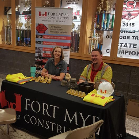 Fort Myer Construction exhibits at Dr. Charles Drew Engineering Academy