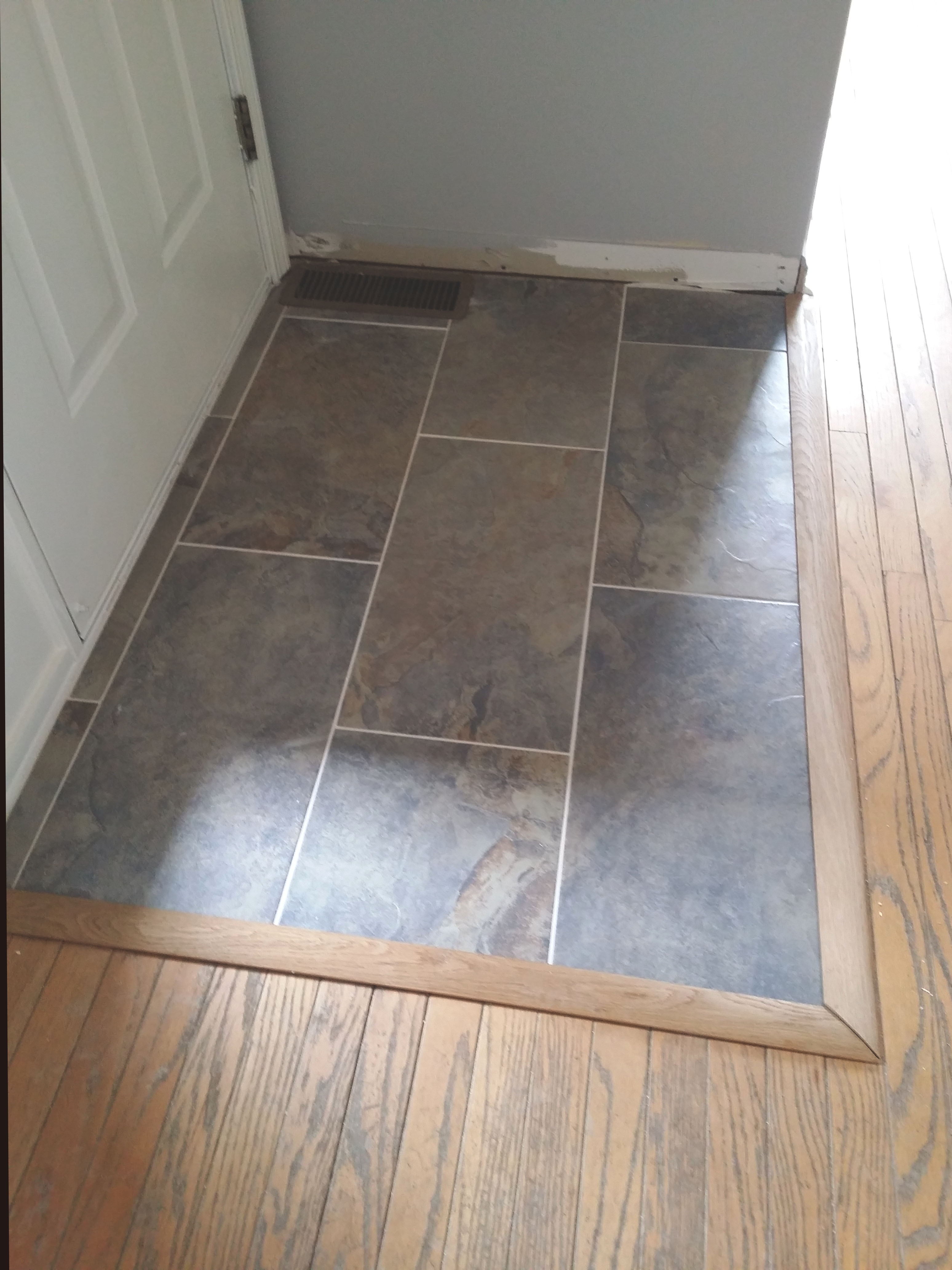 tile inset installation for entryway