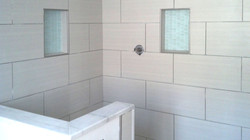tiled shower inset niches