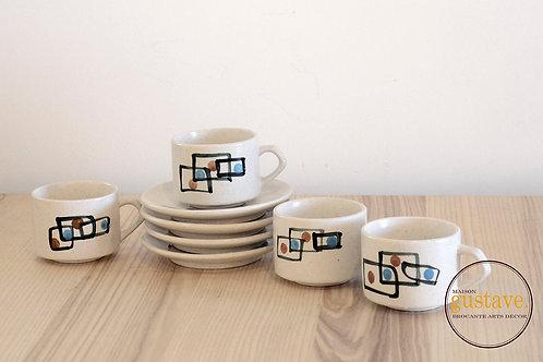 4 couverts, tasses espresso