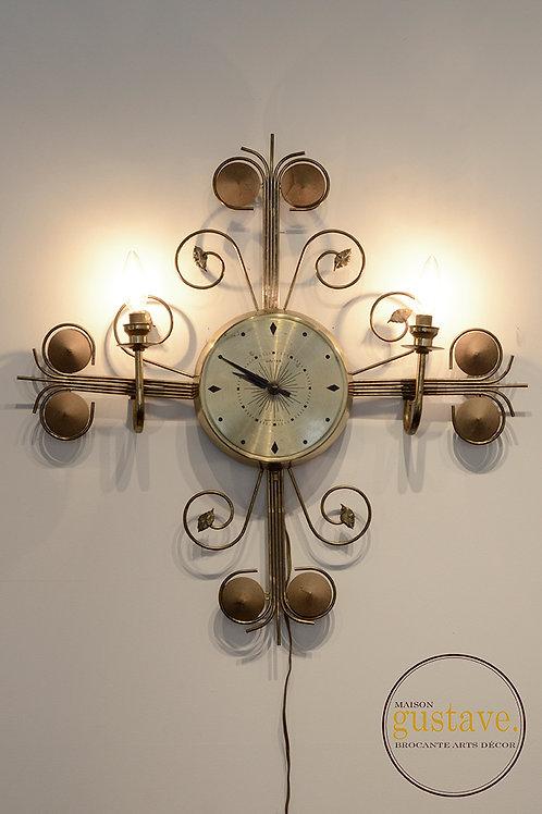 Horloge/luminaire déco United 60's