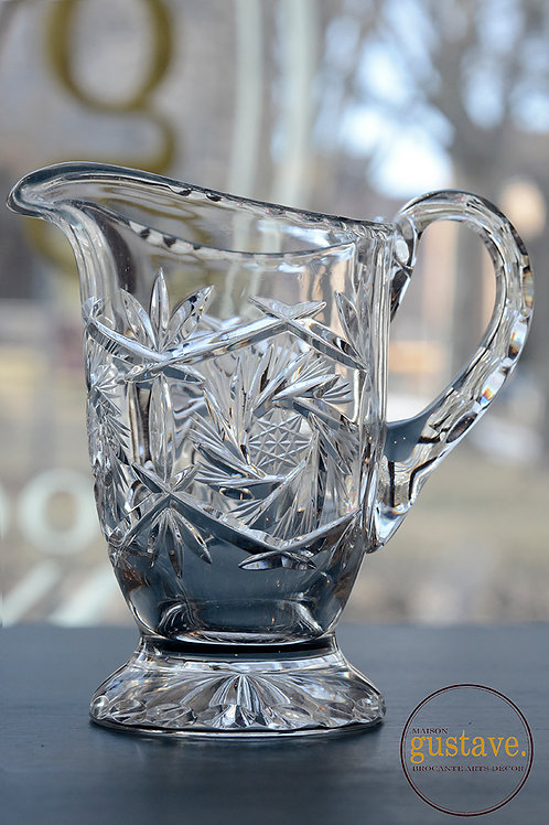 Crémier en cristal pinwheel