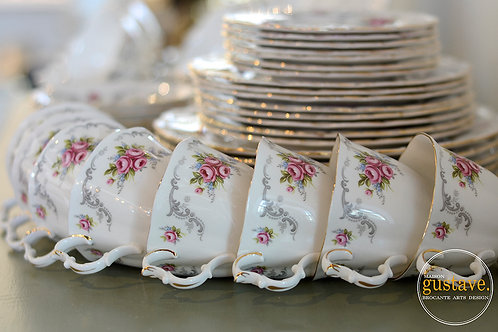 8 couverts Tranquility par Royal Albert, Angleterre