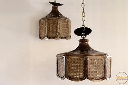 Duo de luminaires en céramique