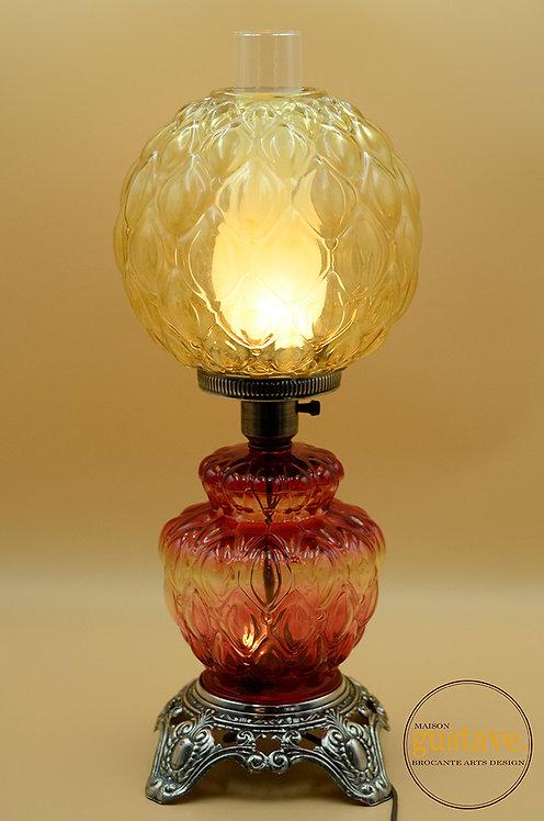Lampe de table ancienne électrifiée