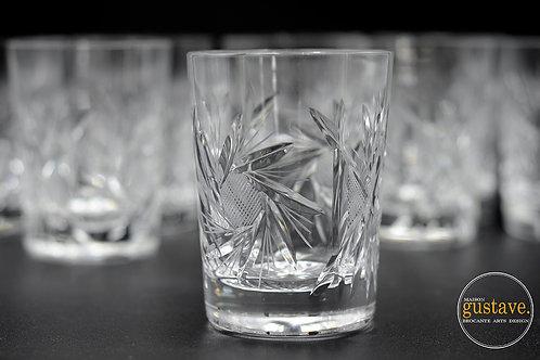 Ensemble 4 verres cristal pinwheel