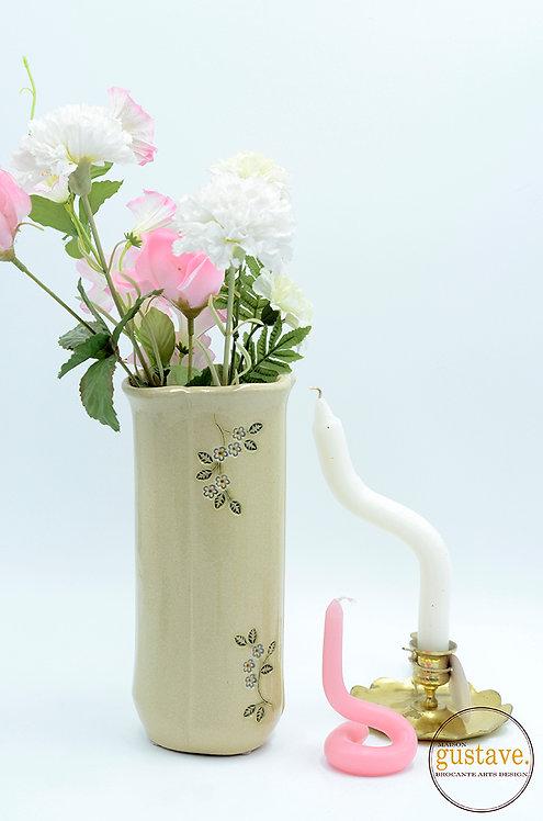 Vase à fleurs en céramique vintage