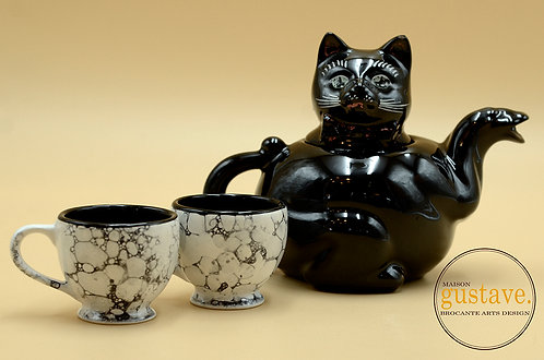 Ensemble à thé chat