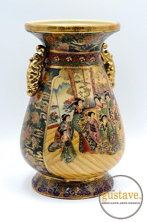Grand vase amphore Satsuma