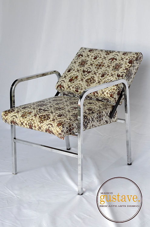 Chaise inclinable vintage
