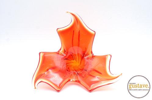 Vase rouge orangé