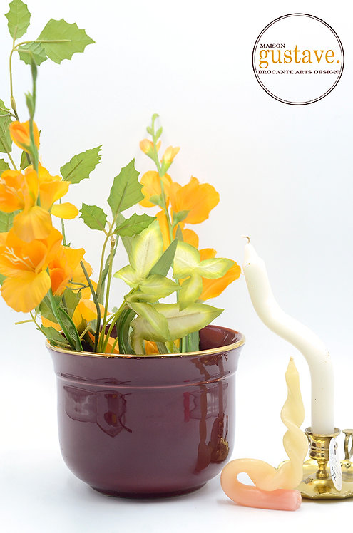 "Cache-pot bourgogne 6 1/2"" D"