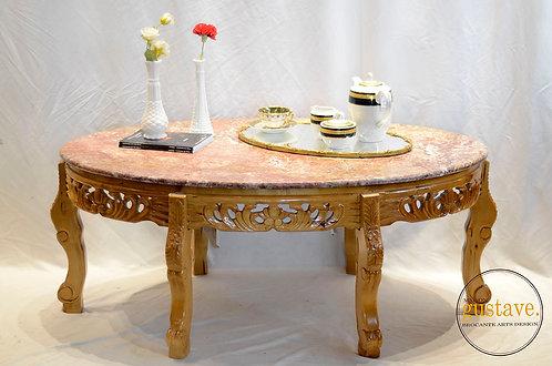 RÉSERVÉ* Table basse en marbre rose