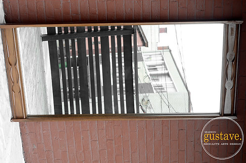 Miroir en bois mid century