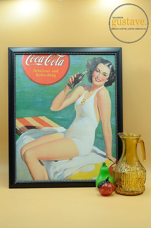 Affiche Coca Cola vintage encadrée