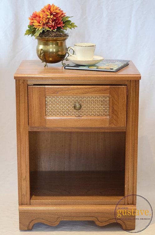 Table d'appoint ou de chevet en bois Lépine