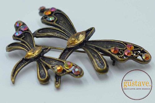 VENDU- Broche vintage motif de libellules