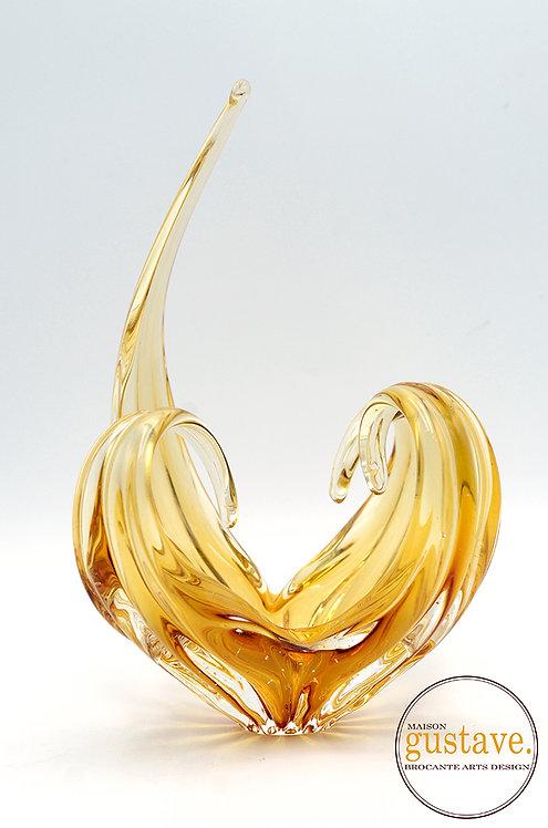Spike & curls ambre jaune