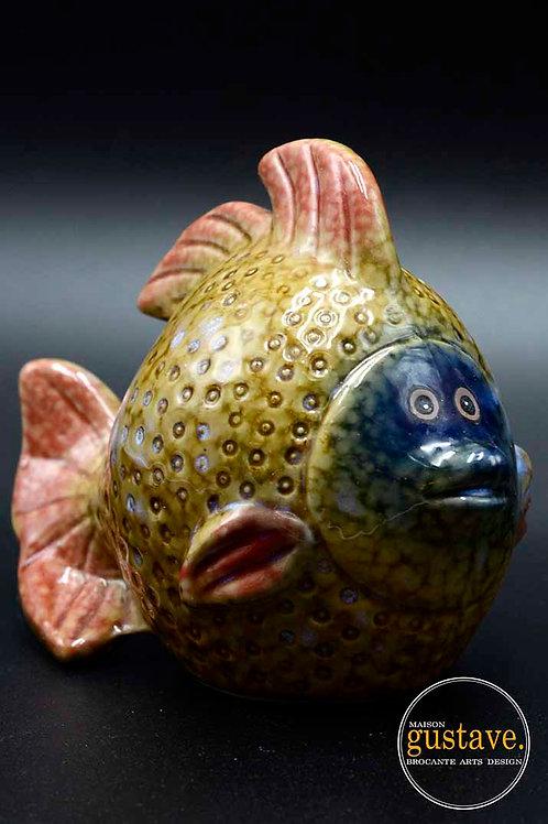 Tirelire poisson en céramique