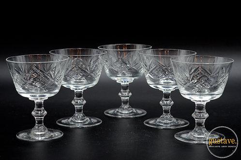 5 coupes en cristal