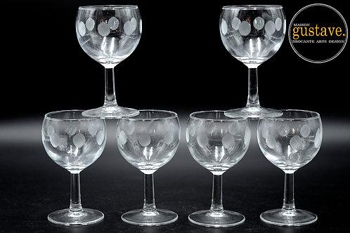 Ensemble 6 coupes en verre