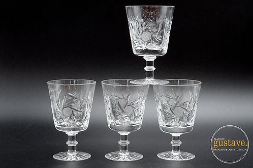 4 coupes en cristal, motif pinwheel