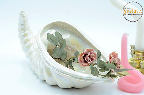 Corne d'abondance - blanc iridescent