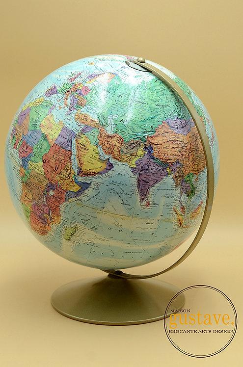 """Globe terrestre vintage circa 1980 de 12"""""""