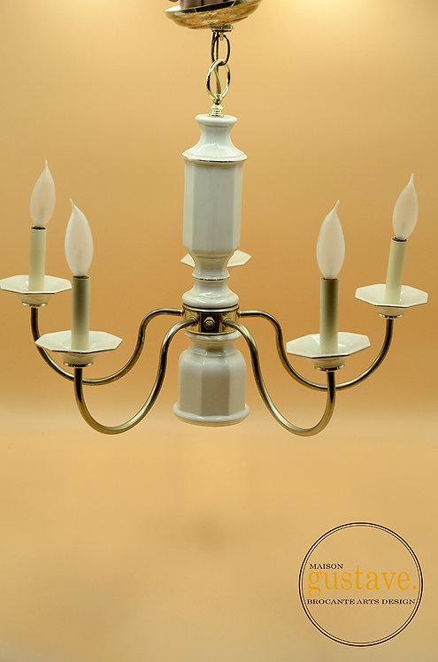 Luminaire 5 branches en céramique