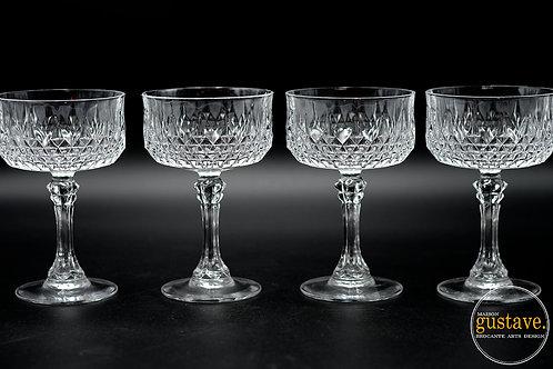 4 coupes en cristal