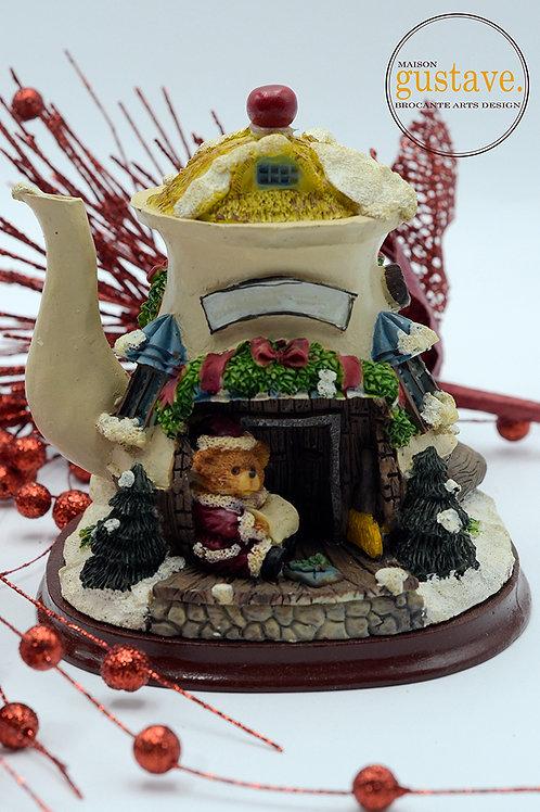 Décoration de Noël forme de théière