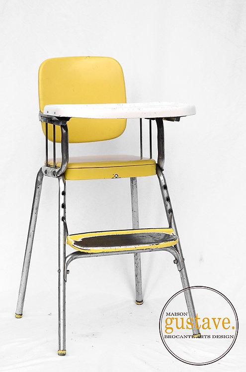 Chaise haute vintage en métal