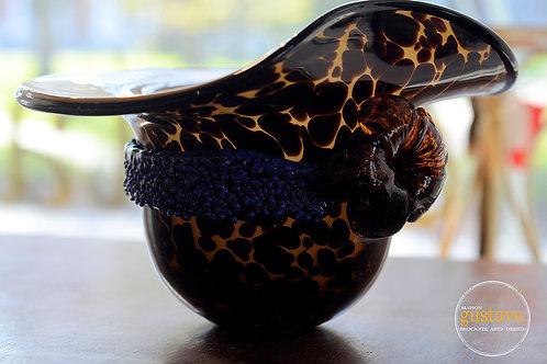 Chapeau en verre soufflé