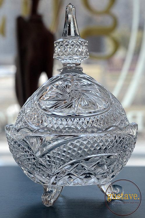 Bonbonnière en cristal pinwheel