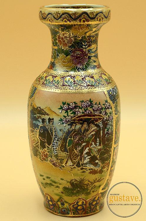 Vase chinois signé Satsuma