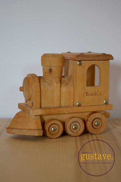 Locomotive Tonka en bois