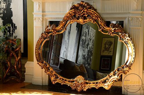 Grand miroir vintage travaillé