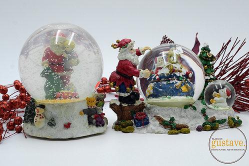 Déco de Noël: boule de verre