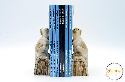 Serre-livres en marbre