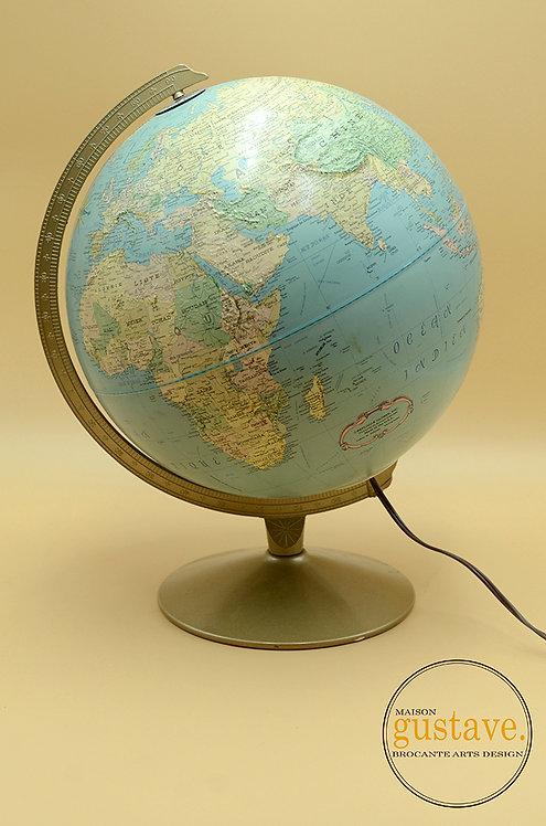 """Globe terrestre lumineux de 12"""""""