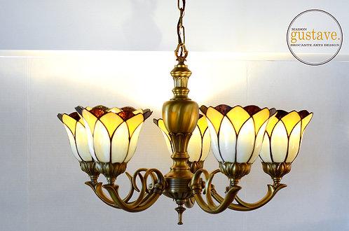 Luminaire suspendu style Tiffany