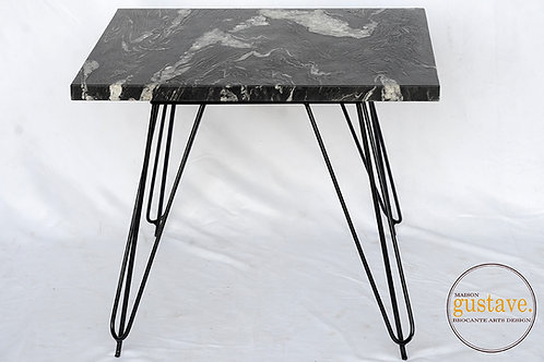 Table d'appoint en marbre noir