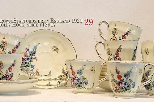 Ensemble pour 10 : Crown Staffordshire d'Angleterre