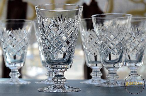 Ensemble de coupes en cristal longues