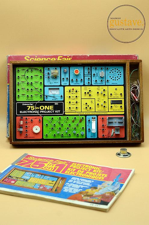 Science Fair 75 en 1 kit de projets électroniques