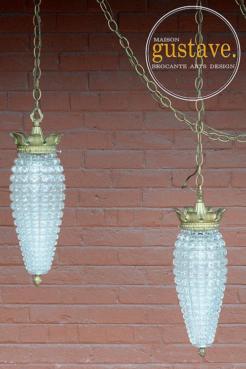 Duo de luminaires vintage