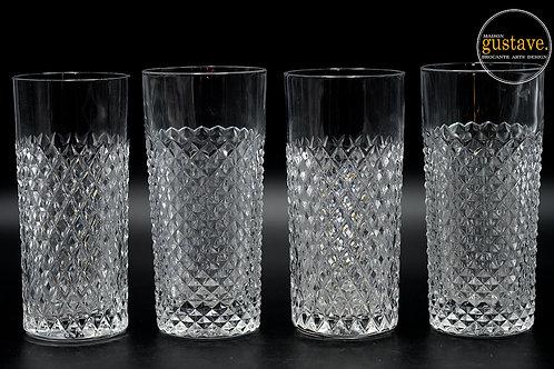 RÉSERVÉ- 4 verres pointe de diamant